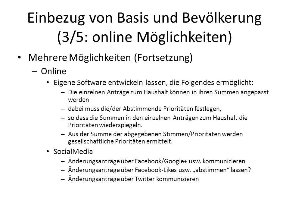 Einbezug von Basis und Bevölkerung (3/5: online Möglichkeiten)