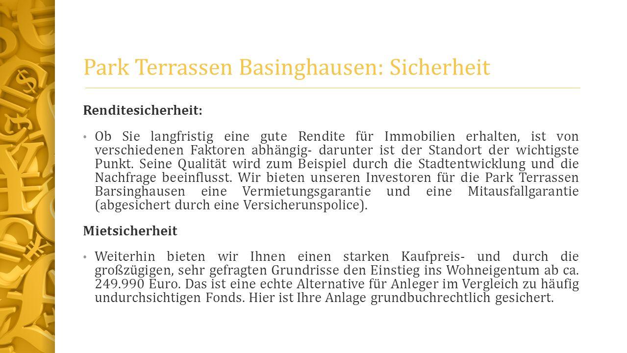Park Terrassen Basinghausen: Sicherheit