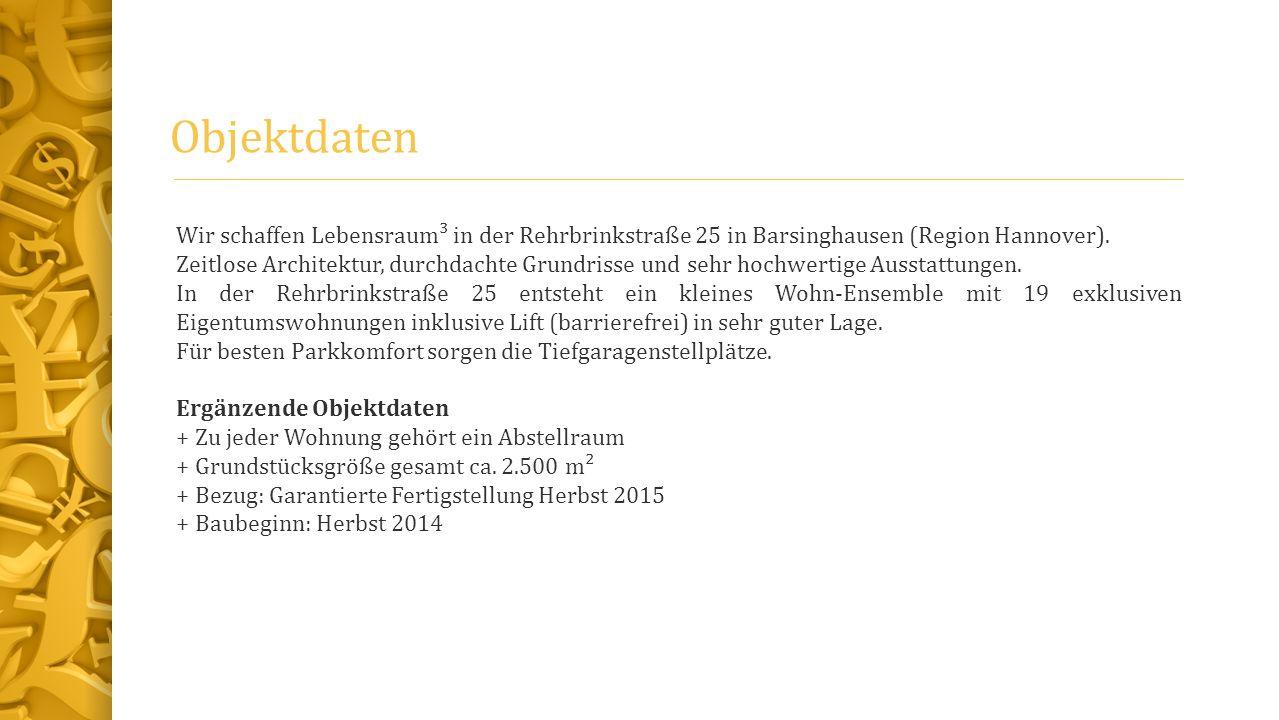Objektdaten Wir schaffen Lebensraum³ in der Rehrbrinkstraße 25 in Barsinghausen (Region Hannover).