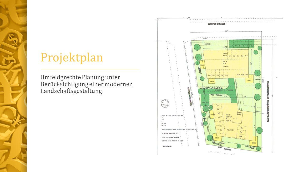 Projektplan Umfeldgrechte Planung unter Berücksichtigung einer modernen Landschaftsgestaltung
