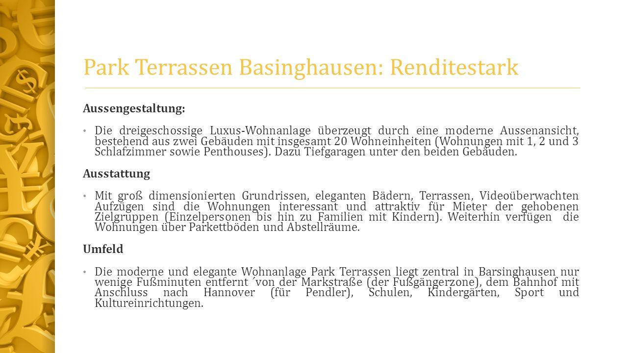 Park Terrassen Basinghausen: Renditestark