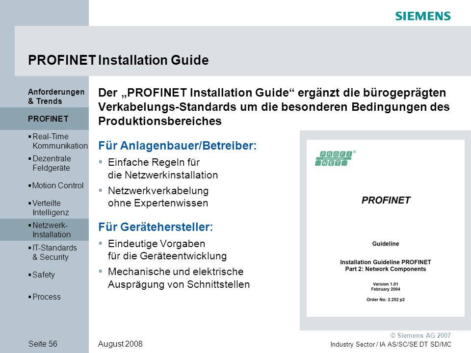 PROFINET Installation Guide