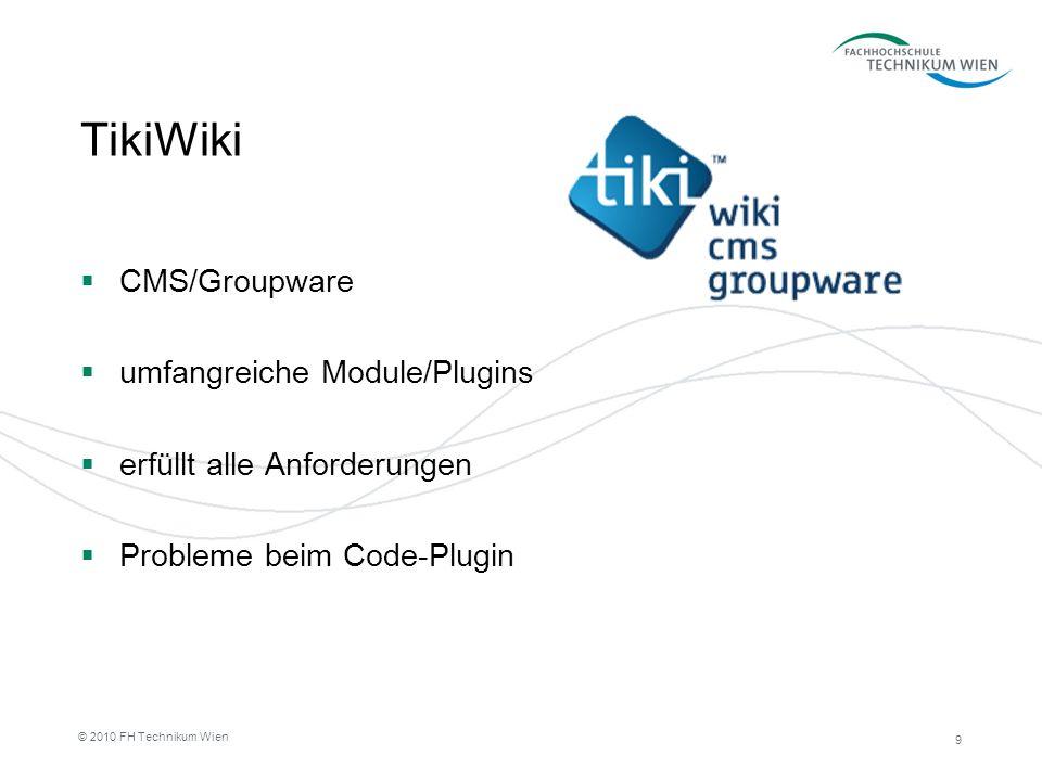 TikiWiki CMS/Groupware umfangreiche Module/Plugins