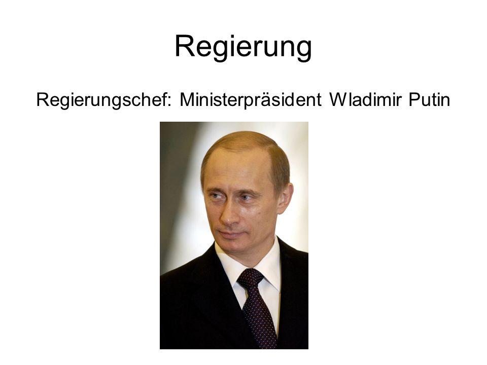 Regierungschef: Ministerpräsident Wladimir Putin