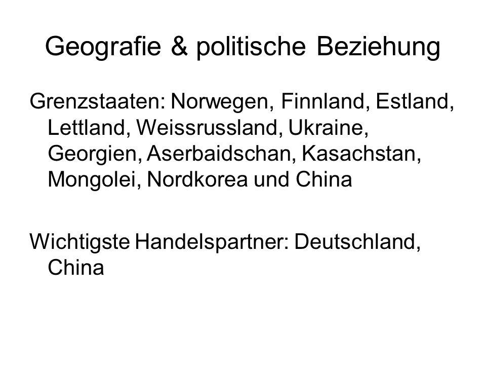 Geografie & politische Beziehung