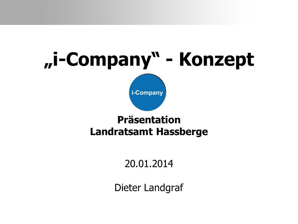 """""""i-Company - Konzept Präsentation Landratsamt Hassberge 20. 01"""