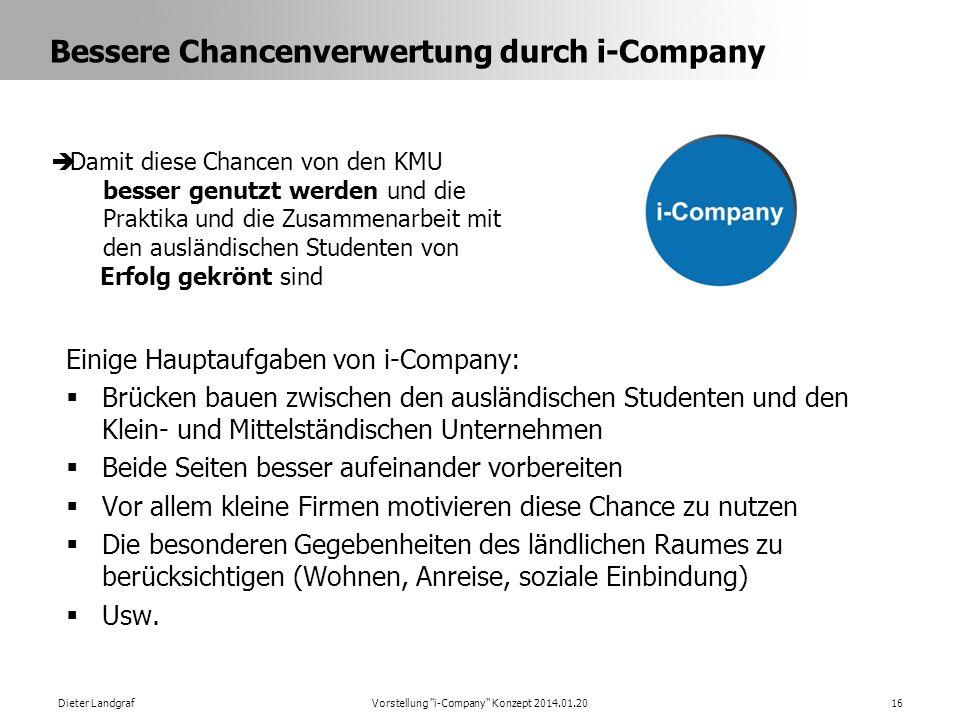 Bessere Chancenverwertung durch i-Company