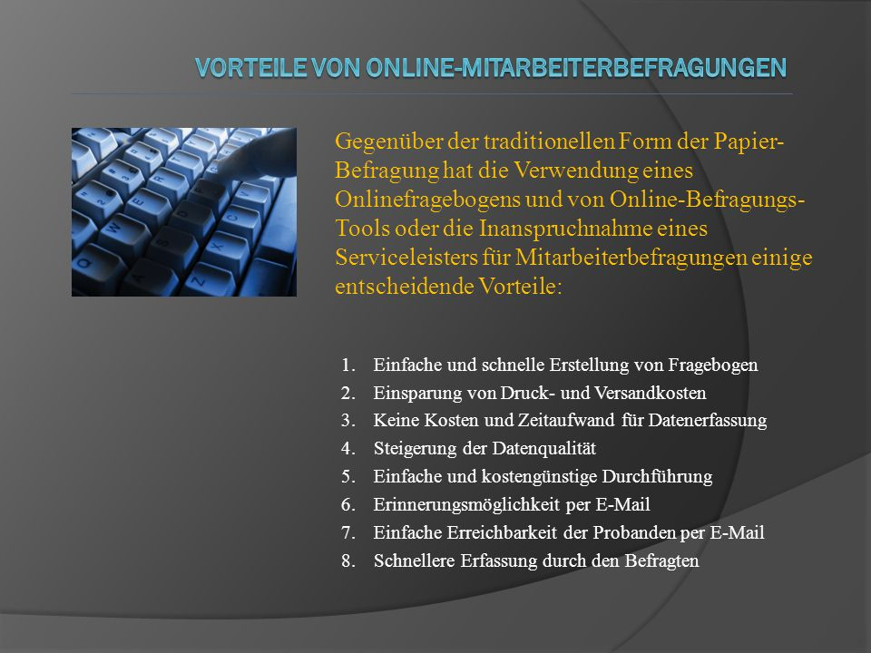 Vorteile von Online-Mitarbeiterbefragungen