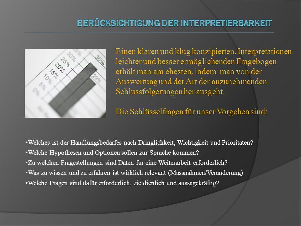 Berücksichtigung der Interpretierbarkeit