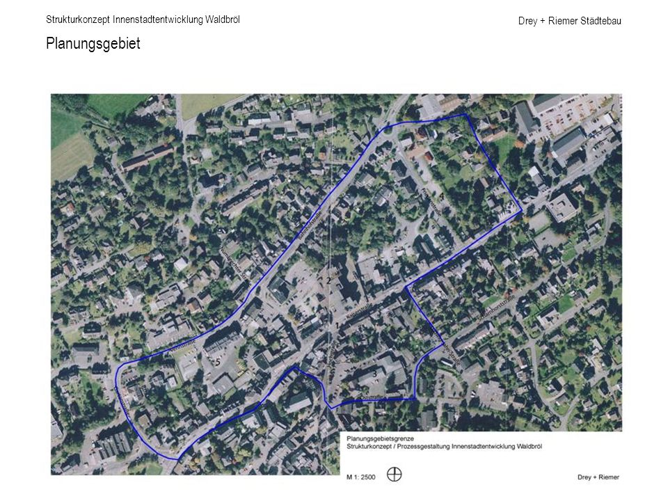 Planungsgebiet Strukturkonzept Innenstadtentwicklung Waldbröl
