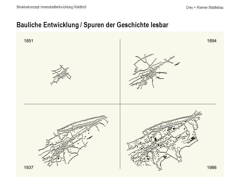 Bauliche Entwicklung / Spuren der Geschichte lesbar