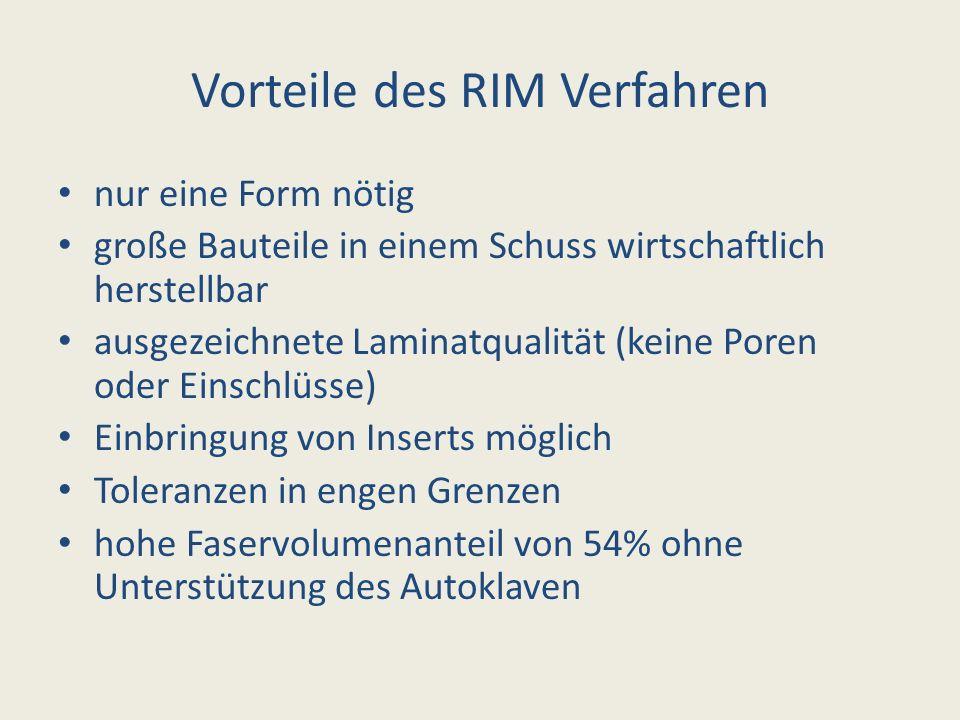 Vorteile des RIM Verfahren