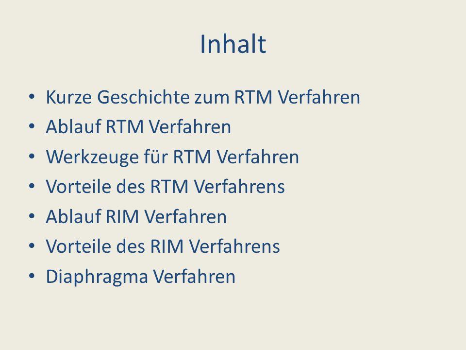 Inhalt Kurze Geschichte zum RTM Verfahren Ablauf RTM Verfahren