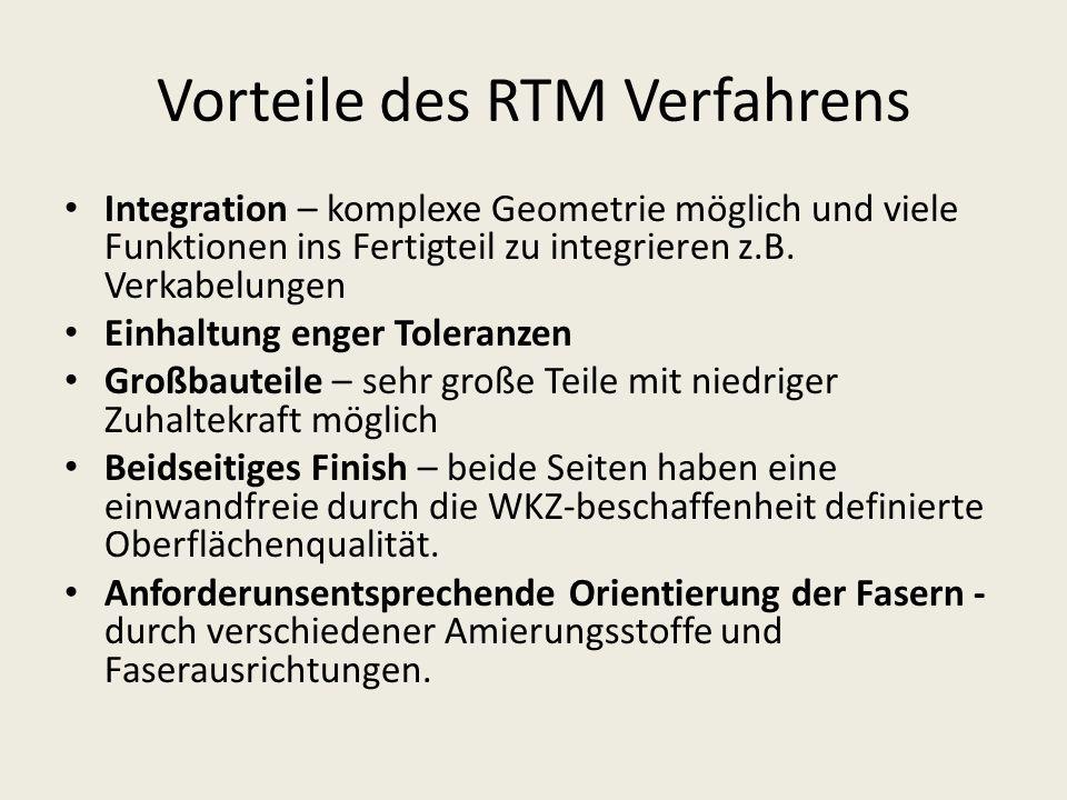 Vorteile des RTM Verfahrens