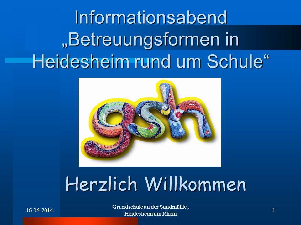 """Informationsabend """"Betreuungsformen in Heidesheim rund um Schule"""