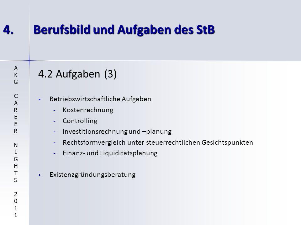 4. Berufsbild und Aufgaben des StB