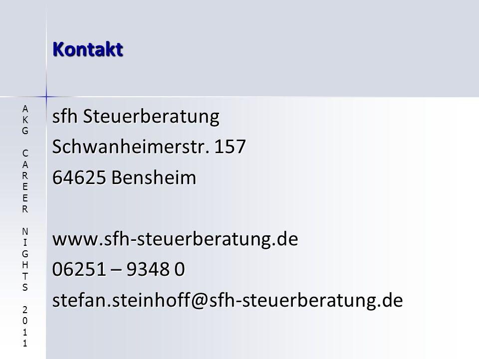 Kontakt sfh Steuerberatung Schwanheimerstr. 157 64625 Bensheim
