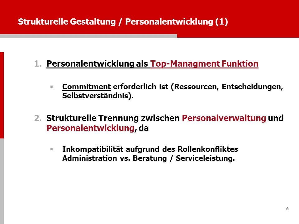 Strukturelle Gestaltung / Personalentwicklung (1)