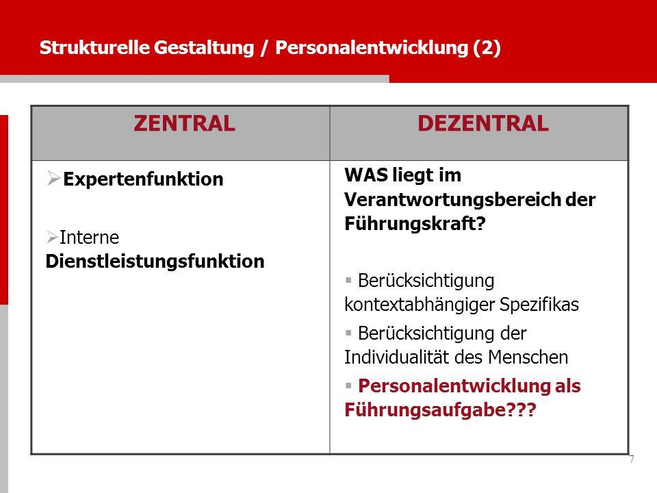 Strukturelle Gestaltung / Personalentwicklung (2)
