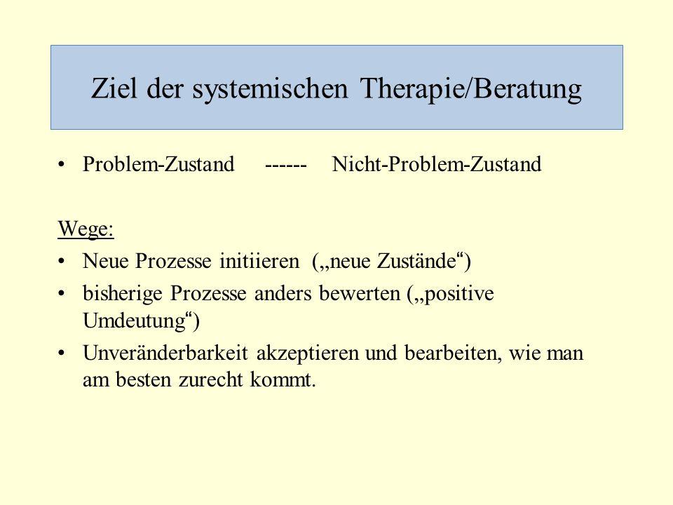 Ziel der systemischen Therapie/Beratung