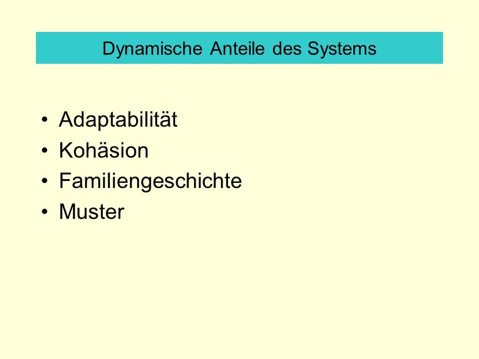 Dynamische Anteile des Systems