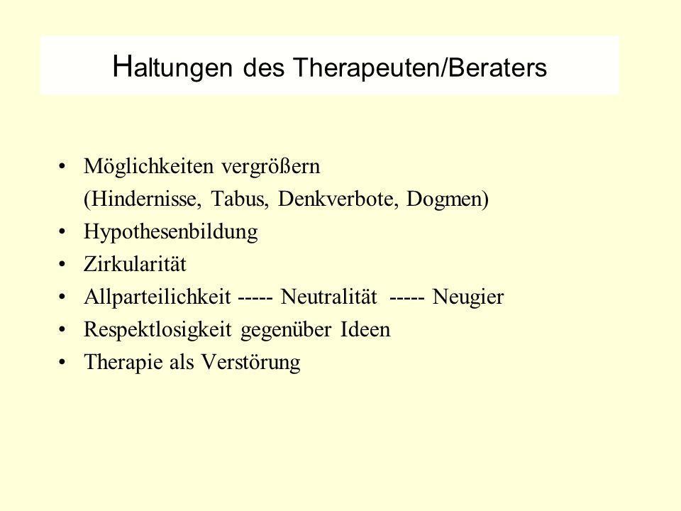 Haltungen des Therapeuten/Beraters