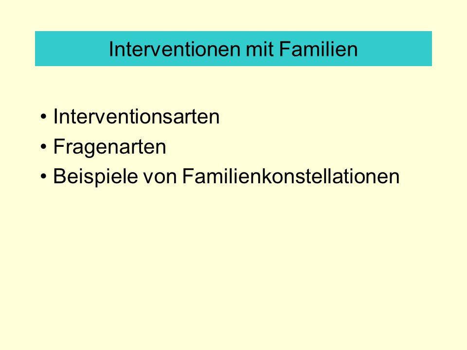 Interventionen mit Familien