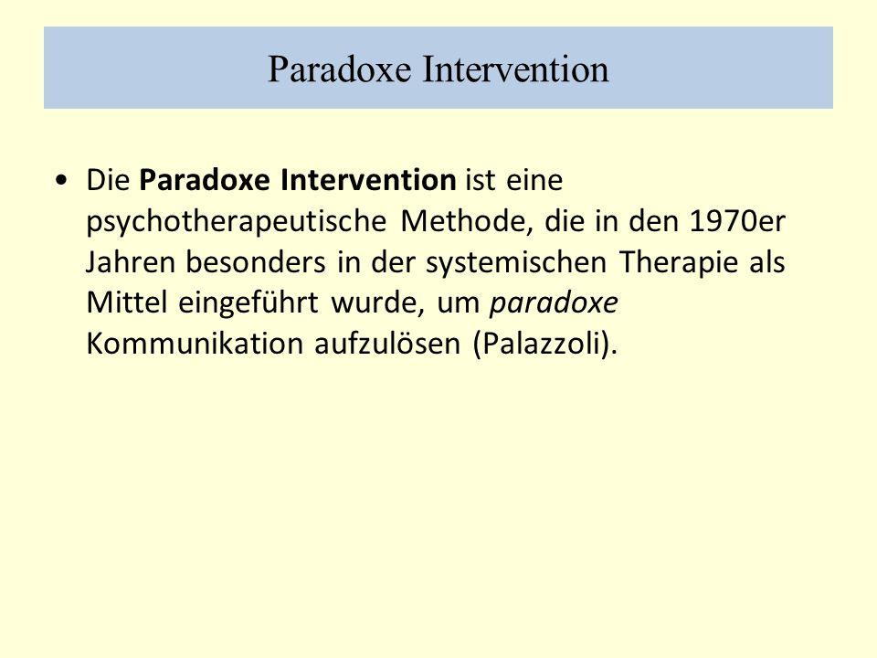 Paradoxe Intervention