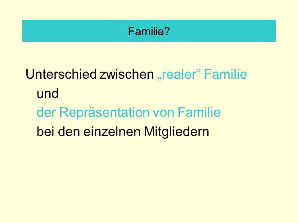 """Unterschied zwischen """"realer Familie und"""