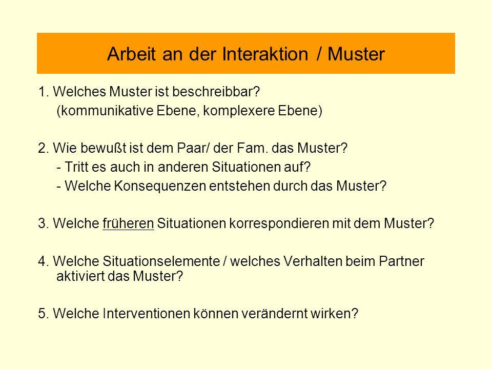 Arbeit an der Interaktion / Muster