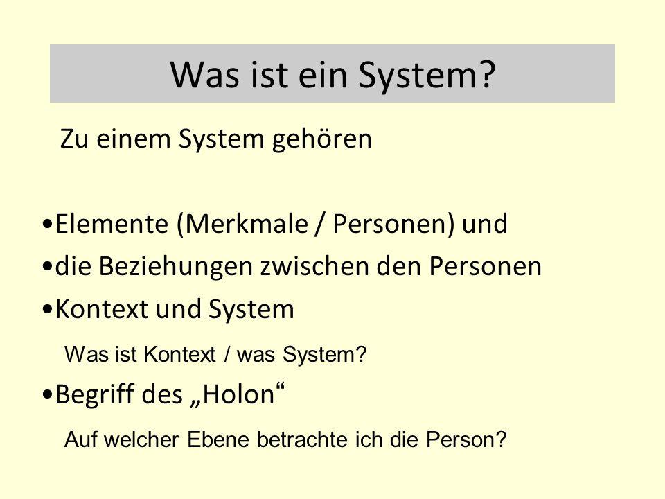 Was ist ein System Zu einem System gehören