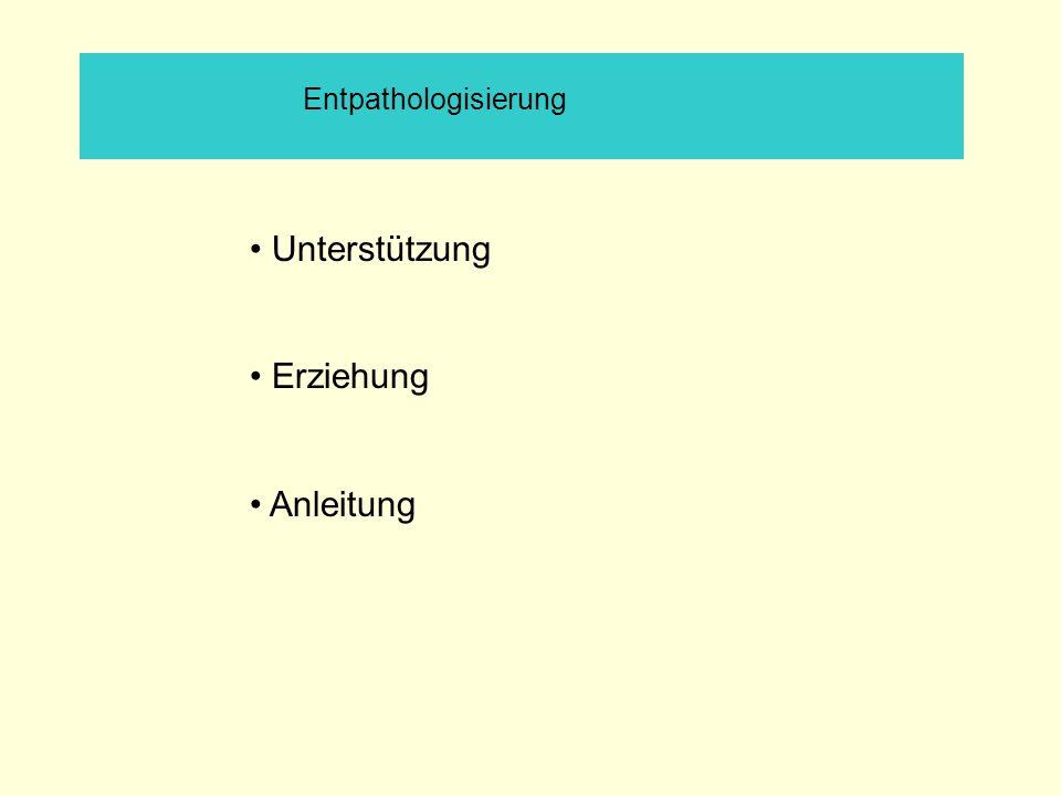 Entpathologisierung • Unterstützung • Erziehung • Anleitung