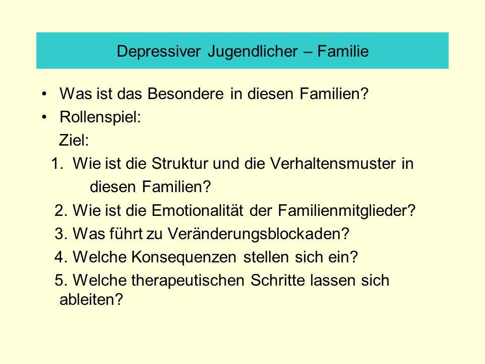 Depressiver Jugendlicher – Familie