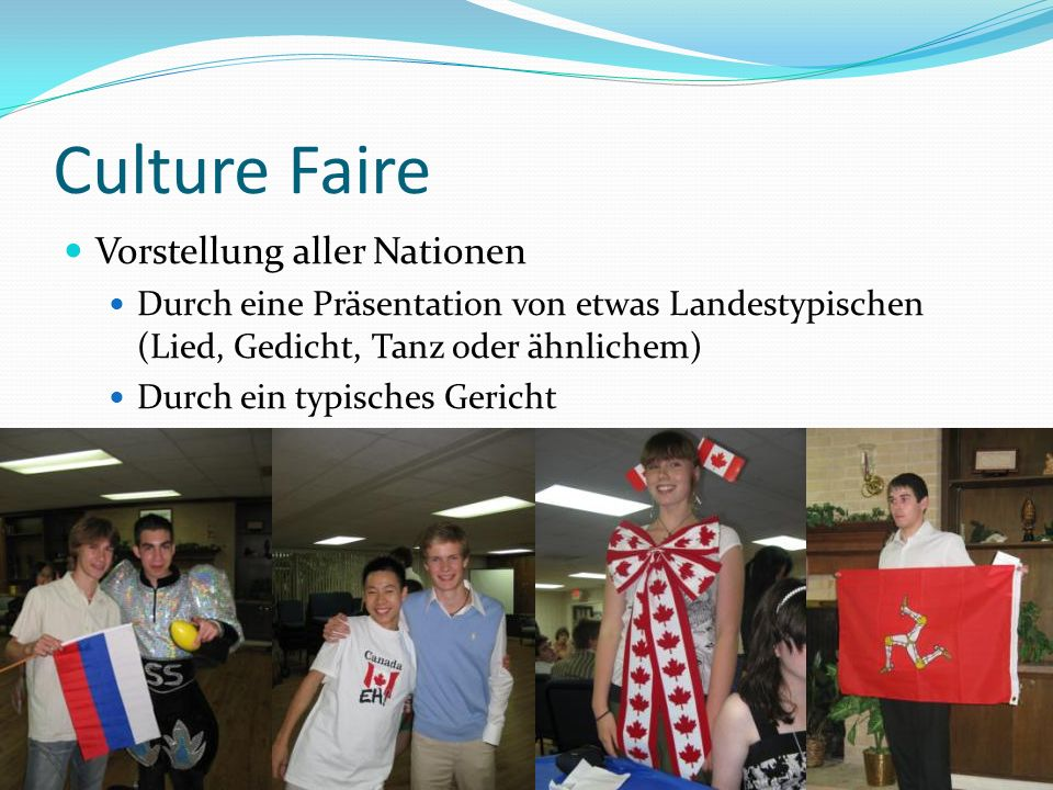 Culture Faire Vorstellung aller Nationen
