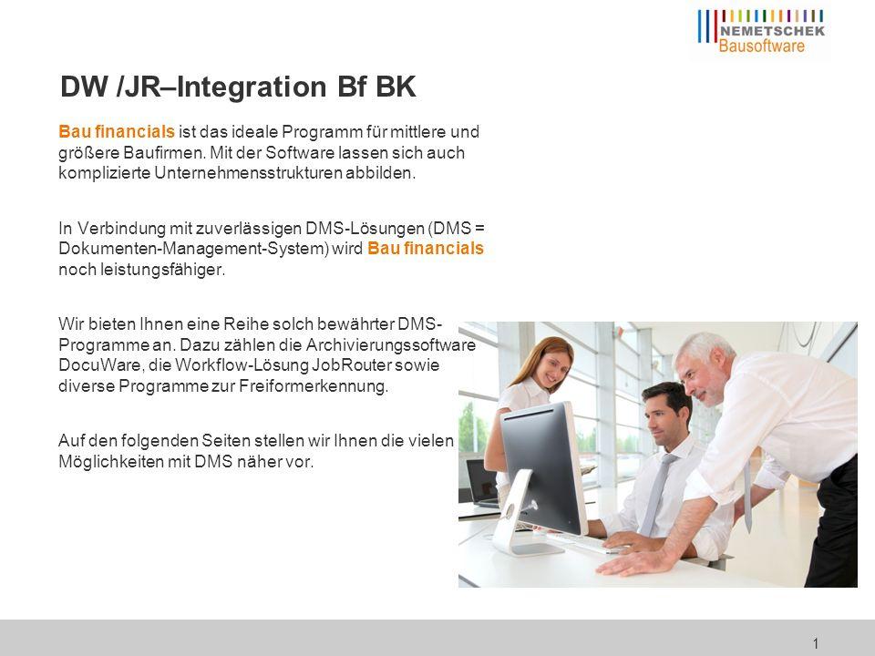 Integration in Bau financials