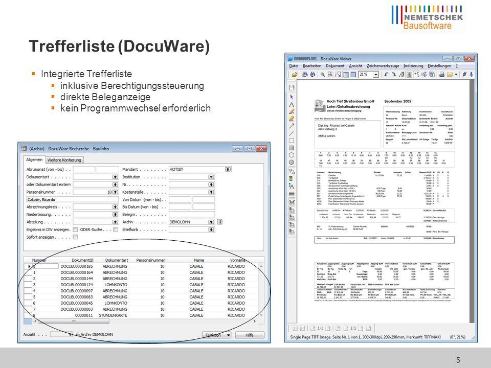 Speicherung von Dokumenten in Personalakte