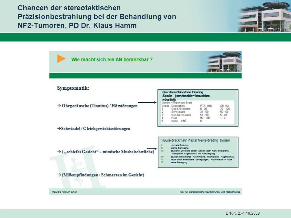 Chancen der stereotaktischen Präzisionbestrahlung bei der Behandlung von NF2-Tumoren, PD Dr.