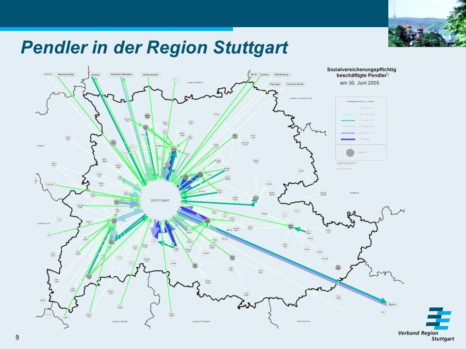 Pendler in der Region Stuttgart
