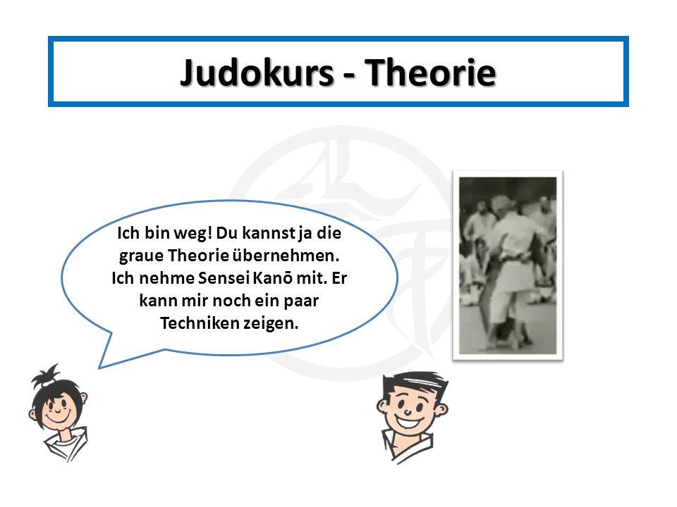 Judokurs - Theorie Ich bin weg. Du kannst ja die graue Theorie übernehmen.