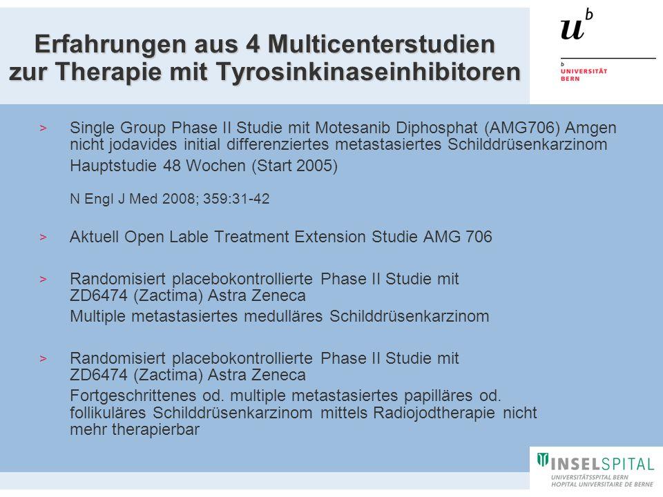 Erfahrungen aus 4 Multicenterstudien zur Therapie mit Tyrosinkinaseinhibitoren