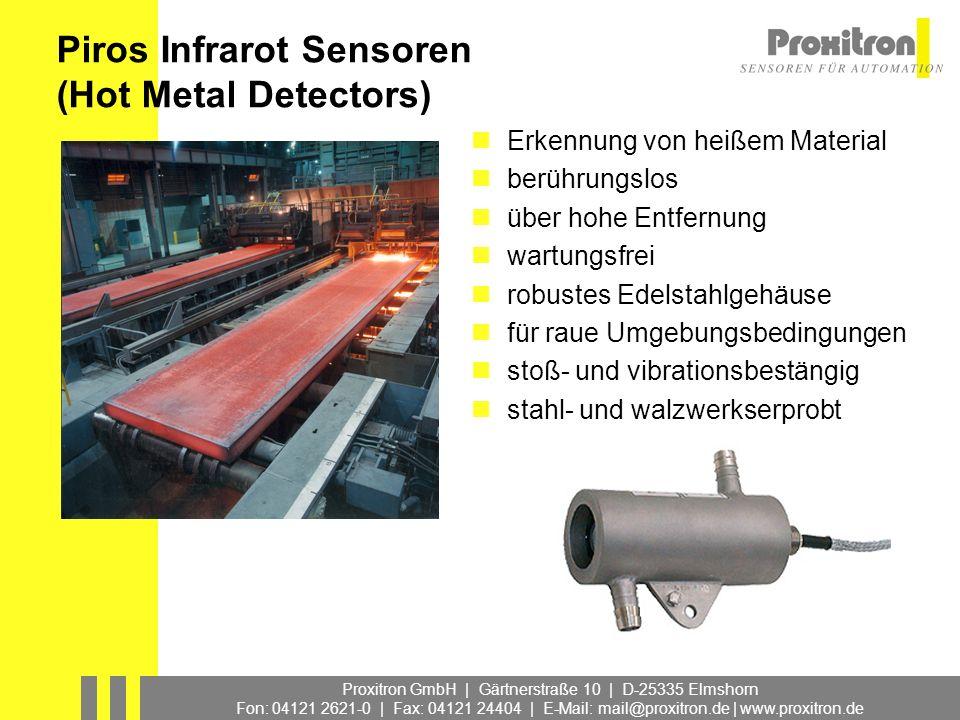 Piros Infrarot Sensoren (Hot Metal Detectors)