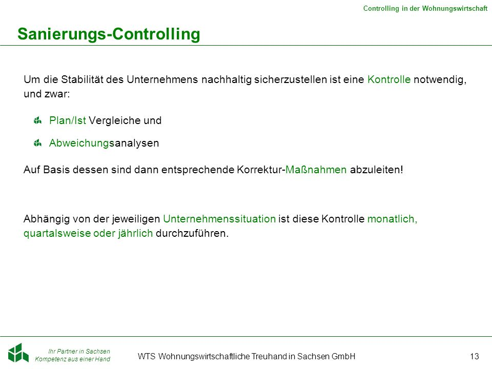 Sanierungs-Controlling