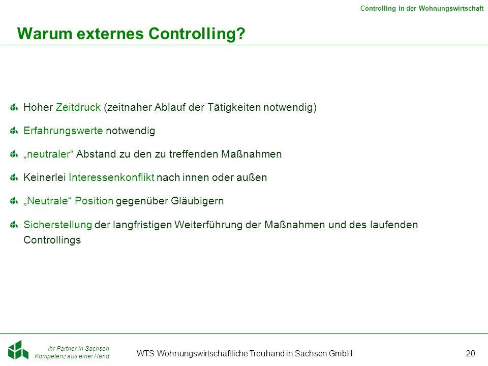 Warum externes Controlling