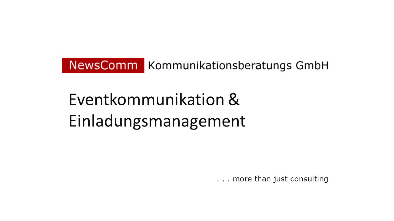 Eventkommunikation & Einladungsmanagement