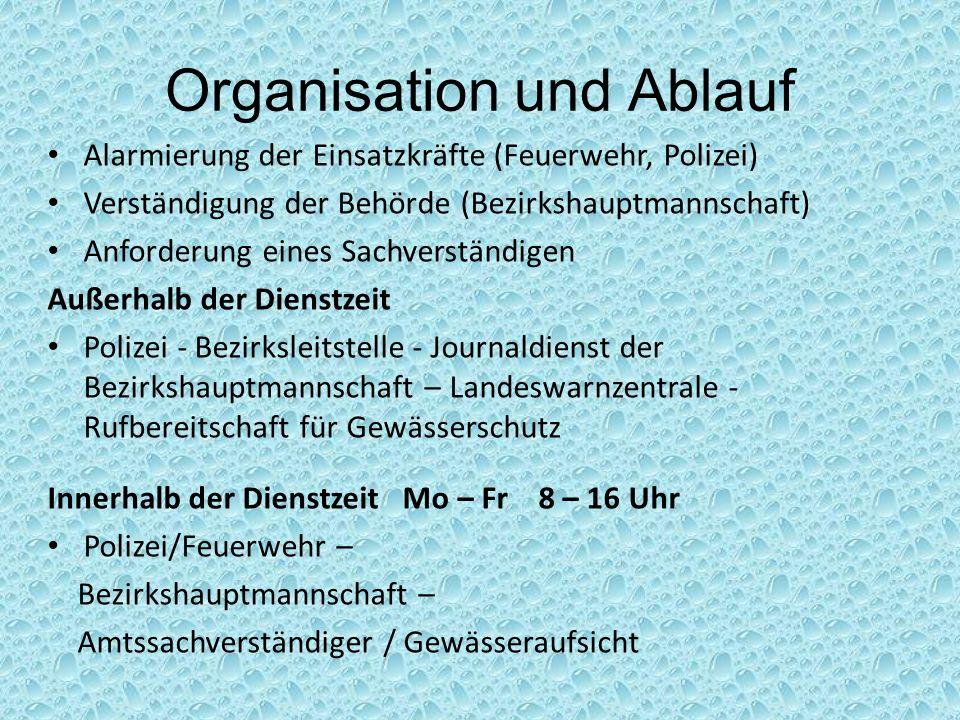Organisation und Ablauf