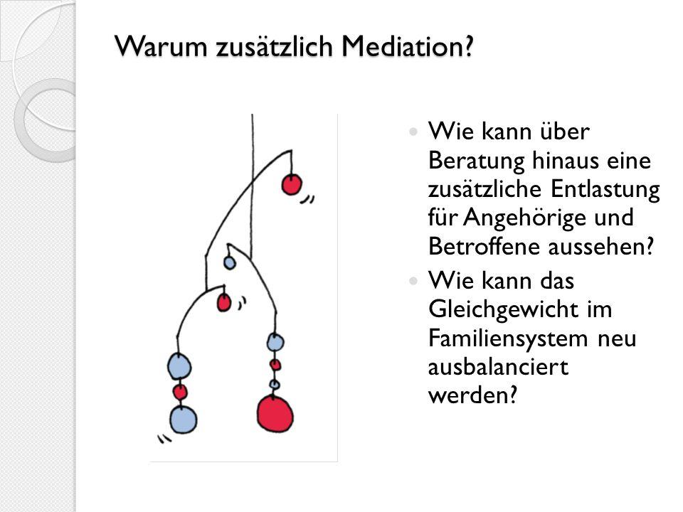 Warum zusätzlich Mediation