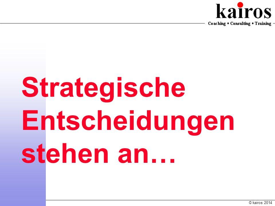 Strategische Entscheidungen stehen an…