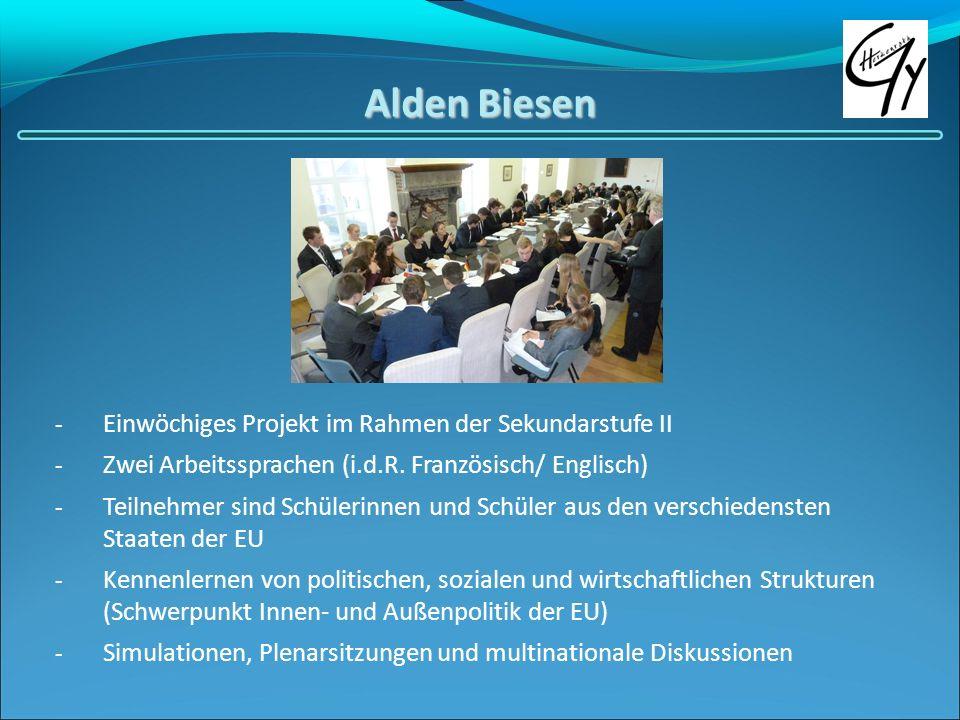 Alden Biesen Einwöchiges Projekt im Rahmen der Sekundarstufe II