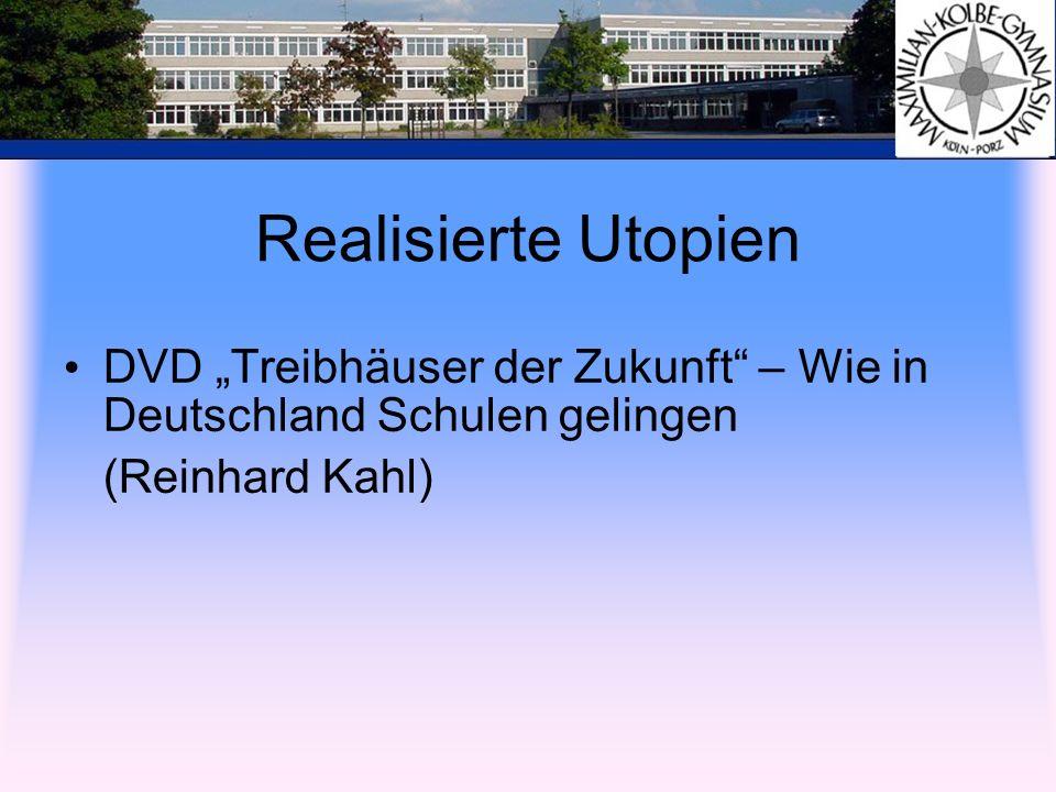 """Realisierte Utopien DVD """"Treibhäuser der Zukunft – Wie in Deutschland Schulen gelingen."""