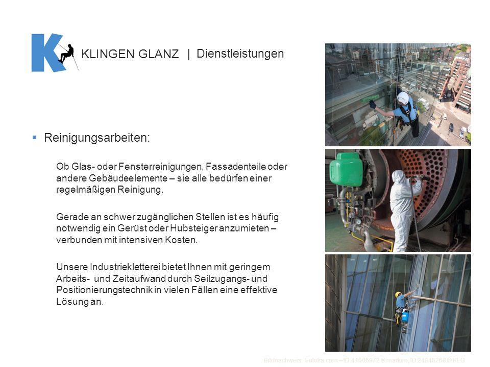 KLINGEN GLANZ Reinigungsarbeiten: | Dienstleistungen